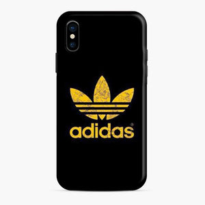 Adidas Gold Black Tekture Logo iPhone X/XS Case
