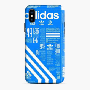 Adidas Logo Blue Stripes iPhone X/XS Case