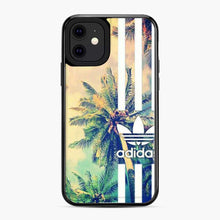 Load image into Gallery viewer, Adidas Logo Coconut Tree Stipe iPhone 11 Case