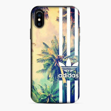 Load image into Gallery viewer, Adidas Logo Coconut Tree Stipe iPhone X/XS Case