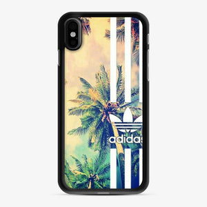 Adidas Logo Coconut Tree Stipe iPhone X/XS Case
