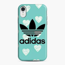 Load image into Gallery viewer, Adidas Logo Love Sketch Brush Blue iPhone XR Case