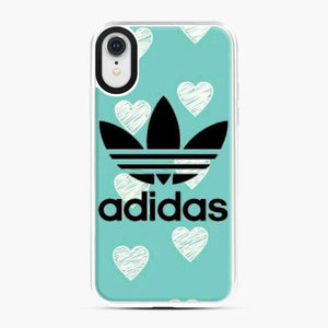 Adidas Logo Love Sketch Brush Blue iPhone XR Case