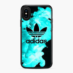 Adidas Logo Smoke Blue iPhone X/XS Case