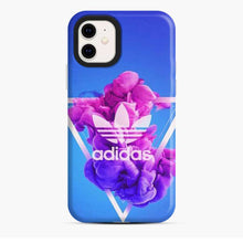 Load image into Gallery viewer, Adidas Logo Smoky Triangle Blue iPhone 11 Case
