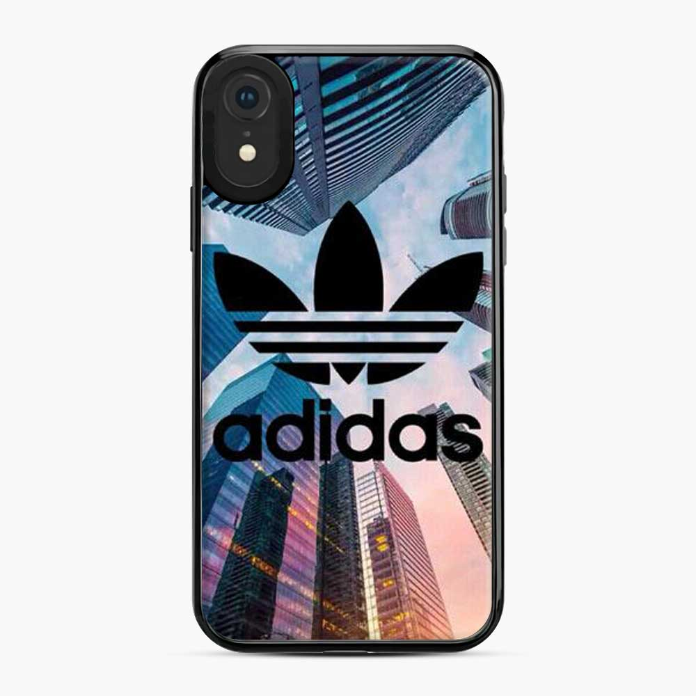 Adidas Logo Tall Building iPhone XR Case