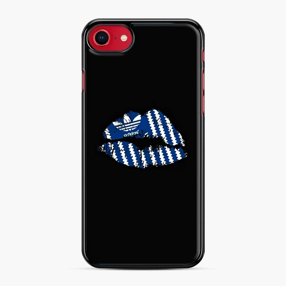Adidas Originals Lips iPhone 7/8 Case, Black Plastic Case | Webluence.com