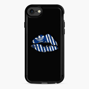 Adidas Originals Lips iPhone 7/8 Case, Black Rubber Case | Webluence.com