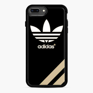 Adidas Three Stripes iPhone 7 Plus/8 Plus Case, Black Rubber Case | Webluence.com