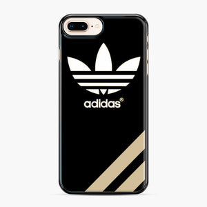 Adidas Three Stripes iPhone 7 Plus/8 Plus Case, Black Plastic Case | Webluence.com