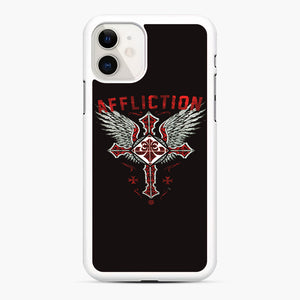 Affliction Artwork iPhone 11 Case, White Rubber Case | Webluence.com