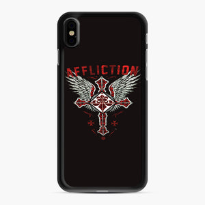 Affliction Artwork iPhone XS Max Case, Black Rubber Case | Webluence.com