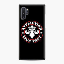 Load image into Gallery viewer, Affliction Clothing Sponsorship Samsung Galaxy Note 10 Plus Case, Black Plastic Case | Webluence.com