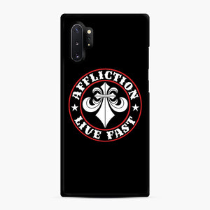 Affliction Clothing Sponsorship Samsung Galaxy Note 10 Plus Case, Black Rubber Case | Webluence.com