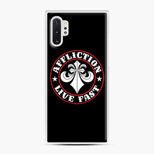 Load image into Gallery viewer, Affliction Clothing Sponsorship Samsung Galaxy Note 10 Plus Case, White Plastic Case | Webluence.com