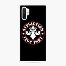 Load image into Gallery viewer, Affliction Clothing Sponsorship Samsung Galaxy Note 10 Plus Case, White Rubber Case | Webluence.com