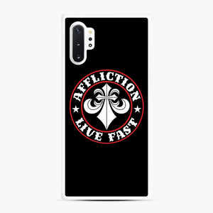 Affliction Clothing Sponsorship Samsung Galaxy Note 10 Plus Case, White Rubber Case | Webluence.com