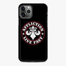 Load image into Gallery viewer, Affliction Clothing Sponsorship iPhone 11 Pro Case, Black Rubber Case | Webluence.com