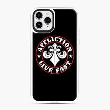Load image into Gallery viewer, Affliction Clothing Sponsorship iPhone 11 Pro Case, White Plastic Case | Webluence.com