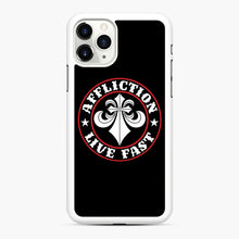 Load image into Gallery viewer, Affliction Clothing Sponsorship iPhone 11 Pro Case, White Rubber Case | Webluence.com