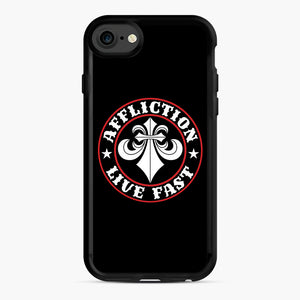 Affliction Clothing Sponsorship iPhone 7/8 Case, Black Rubber Case | Webluence.com