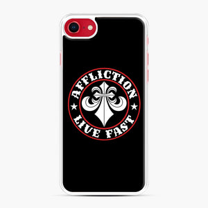 Affliction Clothing Sponsorship iPhone 7/8 Case, White Plastic Case | Webluence.com
