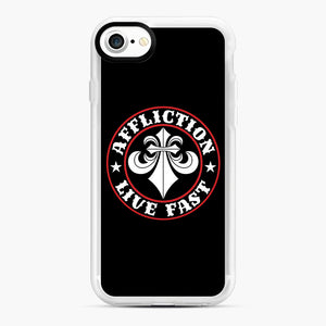 Affliction Clothing Sponsorship iPhone 7/8 Case, White Rubber Case | Webluence.com