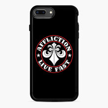 Load image into Gallery viewer, Affliction Clothing Sponsorship iPhone 7,8 Plus Case, Black Rubber Case | Webluence.com