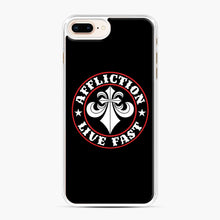 Load image into Gallery viewer, Affliction Clothing Sponsorship iPhone 7,8 Plus Case, White Plastic Case | Webluence.com