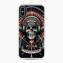 Load image into Gallery viewer, Affliction Indian Skull Drak Blue iPhone X/XS Case