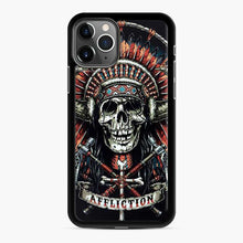 Load image into Gallery viewer, Affliction Indian Skull Drak Blue iPhone 11 Pro Case