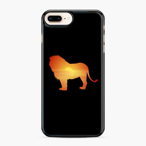 African Lion Design iPhone 7 Plus/8 Plus Case, Black Plastic Case | Webluence.com