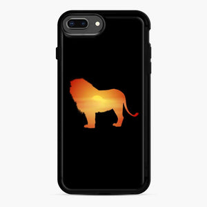 African Lion Design iPhone 7 Plus/8 Plus Case, Black Rubber Case | Webluence.com