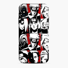 Load image into Gallery viewer, Akatsuki Member Black And White iPhone X/XS Case