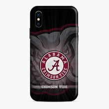 Load image into Gallery viewer, Alabama Crimson Roll Tide Black iPhone X/XS Case