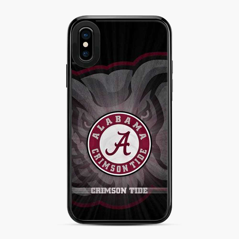 Alabama Crimson Roll Tide Black iPhone X/XS Case