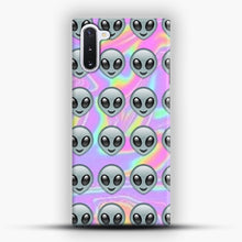 Load image into Gallery viewer, Alien Emoji Holographic Effect 1 Samsung Galaxy Note 10 Case, Snap Case | Webluence.com