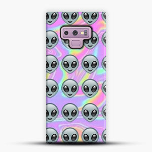 Alien Emoji Holographic Effect 1 Samsung Galaxy Note 9 Case, Snap Case | Webluence.com