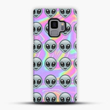 Load image into Gallery viewer, Alien Emoji Holographic Effect 1 Samsung Galaxy S9 Case, Snap Case | Webluence.com