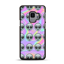 Load image into Gallery viewer, Alien Emoji Holographic Effect 1 Samsung Galaxy S9 Case, Black Plastic Case | Webluence.com