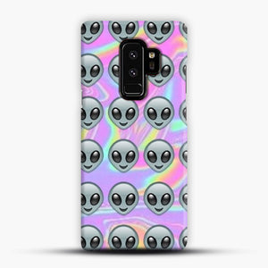 Alien Emoji Holographic Effect 1 Samsung Galaxy S9 Plus Case, Snap Case | Webluence.com