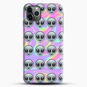 Alien Emoji Holographic Effect 1 iPhone 11 Pro Max Case.jpg, Snap Case | Webluence.com