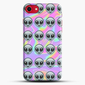 Alien Emoji Holographic Effect 1 iPhone 7/8 Case.jpg, Snap Case | Webluence.com