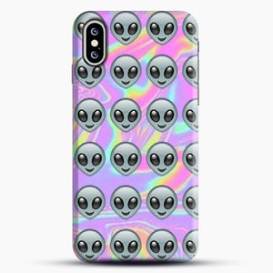 Alien Emoji Holographic Effect 1 iPhone XS Max Case, Snap Case | Webluence.com