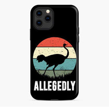 Load image into Gallery viewer, Allegedly Ostrich Retro iPhone 11 Pro Case