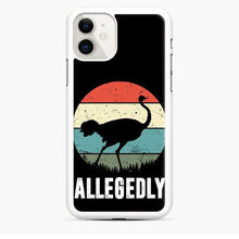 Load image into Gallery viewer, Allegedly Ostrich Retro iPhone 11 Case
