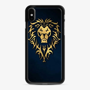 Alliance World Of Warcraft Icon Blue iPhone X/XS Case