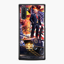 Load image into Gallery viewer, American Pride and Military of Donald Trump Samsung Galaxy Note 10 Case, Black Plastic Case | Webluence.com