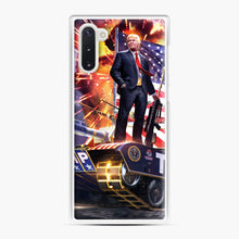 Load image into Gallery viewer, American Pride and Military of Donald Trump Samsung Galaxy Note 10 Case, White Plastic Case | Webluence.com