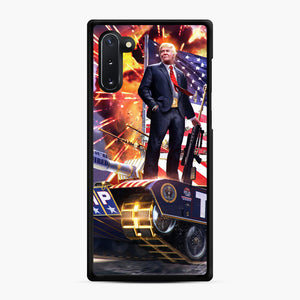 American Pride and Military of Donald Trump Samsung Galaxy Note 10 Case, Black Rubber Case | Webluence.com